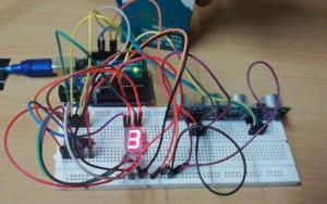 bidirectional counter using ultrasonic sensor