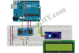 How to make Bi-Directional visitor counter using single ultrasonic sensor with LCD.