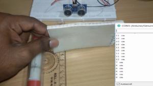 measurement with ultrasonic sensor