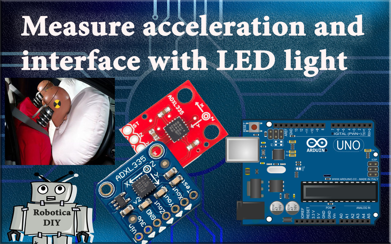how to measure acceleration and use it to turn on the LED light