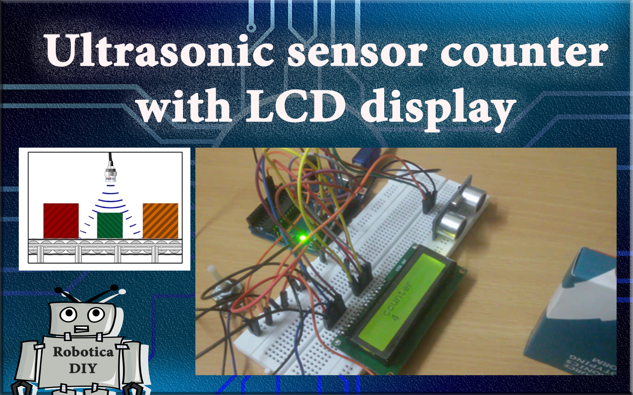 How to use ultrasonic sensor as a counter with LCD