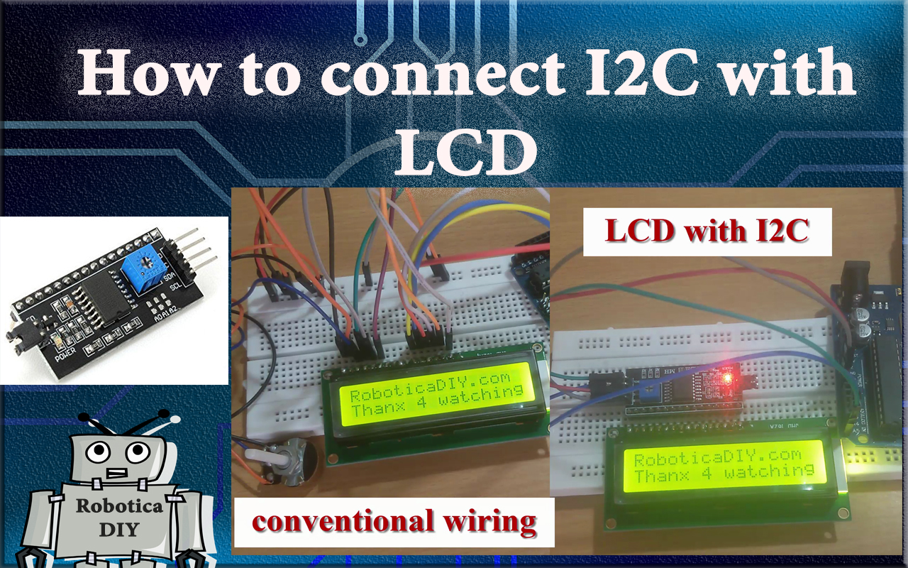 How to connect LCD with I2C serial interface adapter.