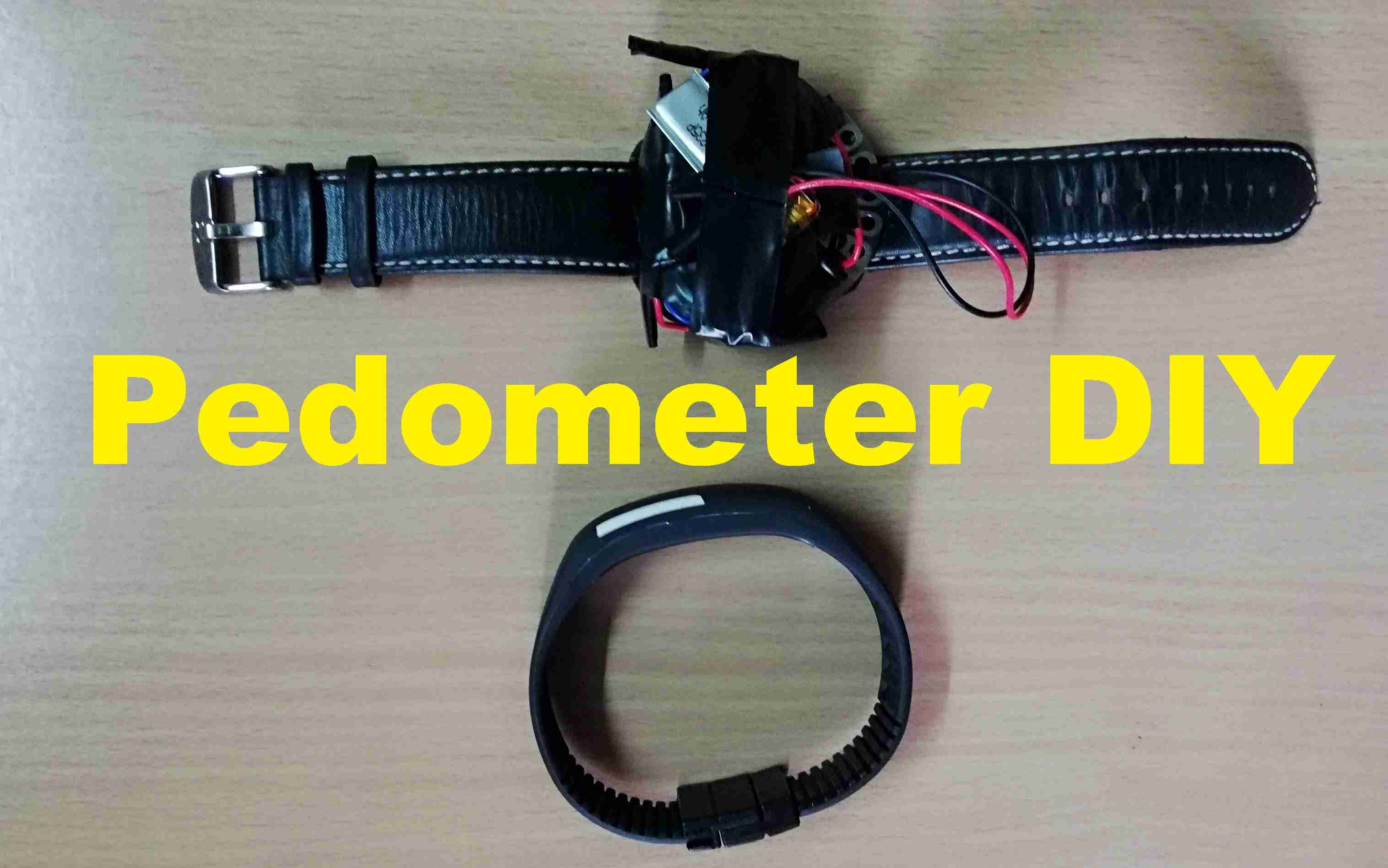 How to make your own pedometer, Fitness band DIY