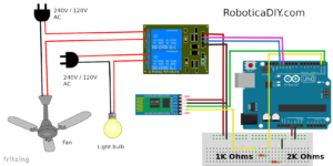 Arduino bluetooth home automation circuit diagram