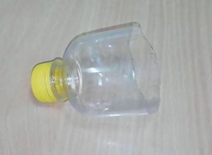 plastic bottle as a hopper