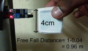 Effective free fall distance