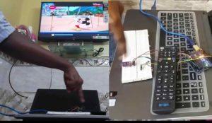 Gesture control TV remote