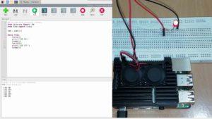gpiozero blinking LED output