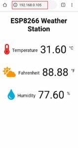 ESP8266 Weather Staion IoT project dont need to refresh web page
