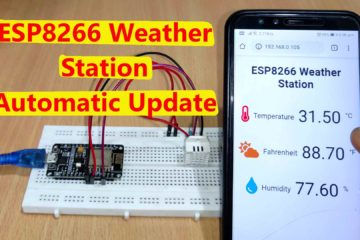 ESP8266 weather station IoT Project