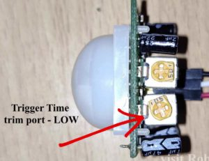 PIR sensor Trim port setting time trigger