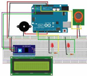 Smoke detector alarm circuit diagram