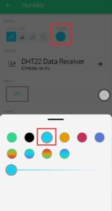 8.Change datastream line color