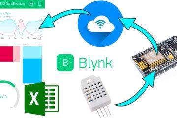 ESP8266 Blynk sensor data graph,level,display,gauge
