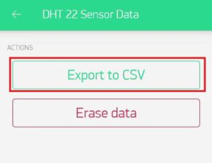 Export sensor chart data to email