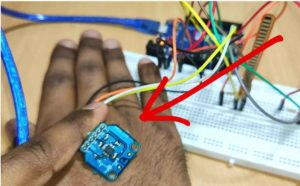Keep ADXL335 Sensor Cross on Hand