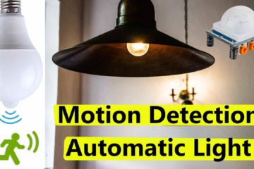 Motion detection automatic light on-off