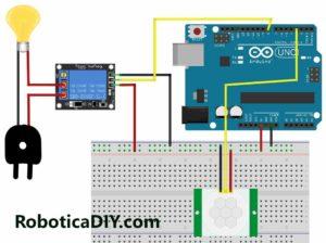 Motion detection automatic light on-off circuit diagram l