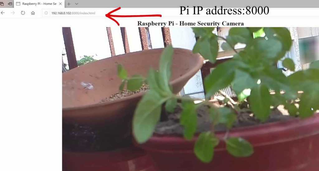 Raspberry pi Live video streaming