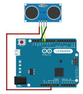 Virtual Slapping Arduino Leonardo Circuit