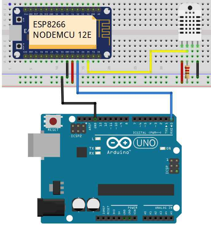 Send Data from ESP8266 NodeMCU to Arduino Connection